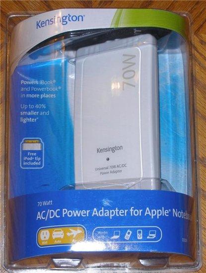 NEW Kensington 33335 70 Watt AC/DC  Power Adapter for Apple Notebooks/Laptops/iPod