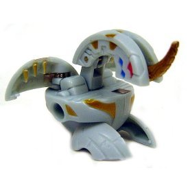 +NEW+ Bakugan Grey Dragonoid Figure LOOSE +FREE SHIP+