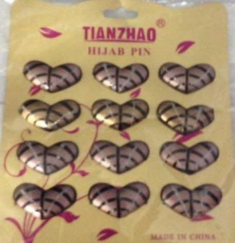 Free Shipping 3 pc Hijab hejab abaya Scarf  shayla niqab burqa cardigan craft pins