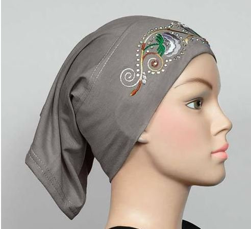 Free Shipping Embroidered  Cotton Maxi Tube Band Yoga headband Hijab Hejab Inner cap Muslim