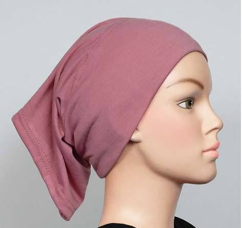 Free Shipping Mauve Cotton Maxi Tube Band Yoga headband Hijab Hejab Inner cap Muslim