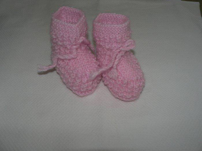 Handmade Baby Booties - Pink