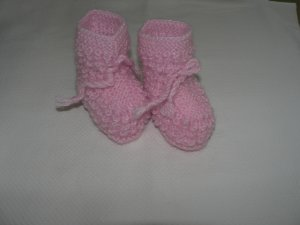 Handmade Baby Booties - Pink