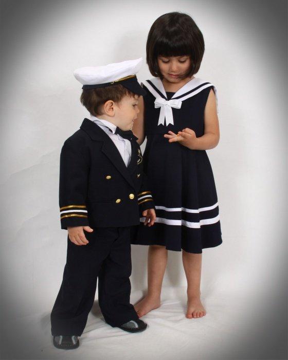 Navy Blue Baby Boy & Boys Captain Sailor Tuxedo Suit, Size: 12-18 mo