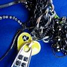 Harajuku Lovers  - 'Twisted Zipper' Charm Necklace