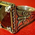 925 fine silver handmade men's Turkish kelebek style red ruby ring from Turkey