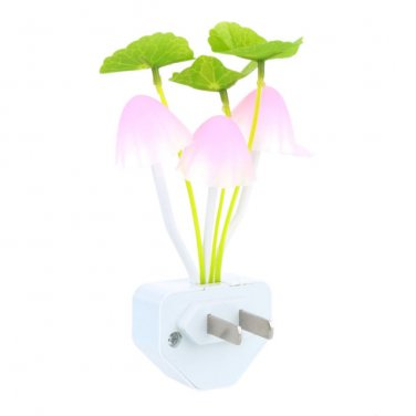 Alice in Wonderland Fantasy Dreamy Automatic Multicolor LED Mushroom Night Light
