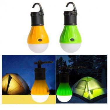 3 LED Outdoor Hanging Camping Fishing Back Pack Tent Light Bulb Lantern Lamp, US
