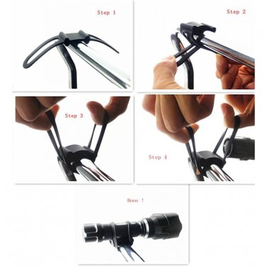2x Bike Bicycle Flashlight Torch Silicone Universal Handle Holder Mount US Store