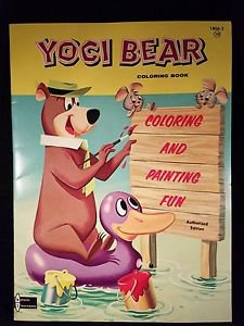 VINTAGE YOGI BEAR COLORING BOOK 1959