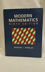 Modern Mathematics ninth edition Wheeler Wheeler