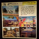 VINTAGE SALESMAN SAMPLE SHEET POSTCARDS...LOCAL SCENIC