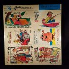 VINTAGE SALESMAN SAMPLE SHEET POSTCARDS...COMICS 12..b