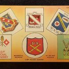 VINTAGE  POSTCARD REGIMENTAL INSIGNIAS OF 81ST DIVISION CAMP RUCKER ALABAMA