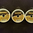 Maxima Clear 4 lbs 27yds Leader Material Fishing Line 3 PACK
