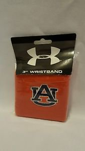 "UNDER ARMOUR AUBURN University Tigers Wristband Sweatbands 3"" orange"