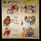 VINTAGE SALESMAN SAMPLE SHEET POSTCARDS...COMICS 60.b