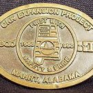 VINTAGE 1990 CNK EXPANSION PROJECT SOLID BRASS BELT BUCKLE