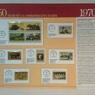 50 Years of U.S. Commemorative Stamps 1970-74, 9 Panels