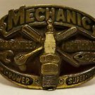 VINTAGE BELT BUCKLE SPARK PLUG MECHANIC HI POWER SUPER TUNER