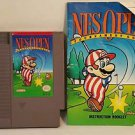 NES OPEN with manual NES NINTENDO ENTERTAINMENT SYSTEM