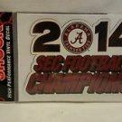Alabama Crimson Tide 2014 SEC Football Champions Decal
