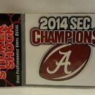 Alabama Crimson Tide 2014 SEC Football Champions Decal small