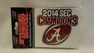 Alabama Crimson Tide 2014 SEC Football Champions Decal small