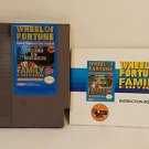 WHEEL OF FORTUNE with manual NES NINTENDO ENTERTAINMENT SYSTEM