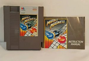 MARBLE MADNESS with manual NES NINTENDO ENTERTAINMENT SYSTEM