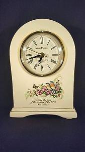 Howard Miller #645-211 White Porcelain Mantle Clock