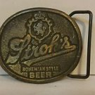 Stroh's Bohemian Style Beer Belt Buckle Vintage
