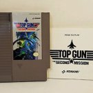 TOP GUN SECOND MISSION with manual NES NINTENDO ENTERTAINMENT SYSTEM