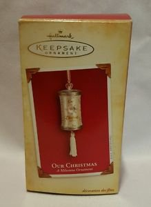Hallmark Keepsake Ornament OUR CHRISTMAS A MILESTONE ORNAMENT jp