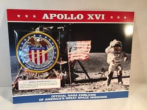 OFFICIAL NASA EMBLEMS OF AMERICA�S GREAT SPACE MISSIONS  Apollo Xvi