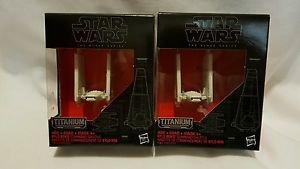 STAR WARS The Force Awakens Black Series TITANIUM 03 Kylo Ren's Shuttle x2