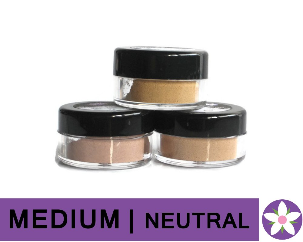 MEDIUM Neutral Color Mineral Foundation Powder in Matte Finish