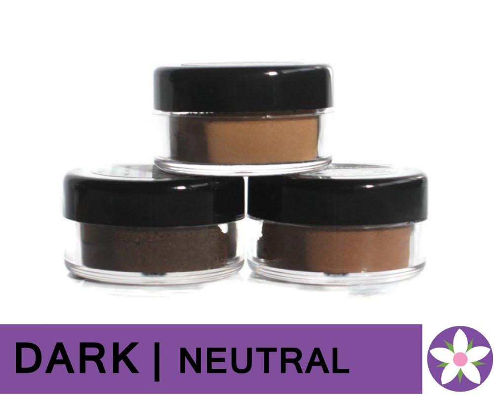 DARK Neutral Color Mineral Foundation Powder in Matte Finish