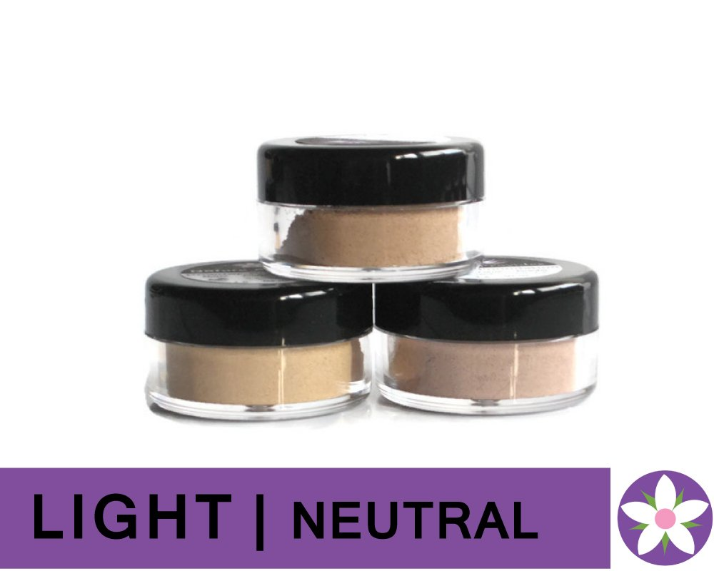 LIGHT Neutral Color Mineral Foundation Powder in Matte Finish