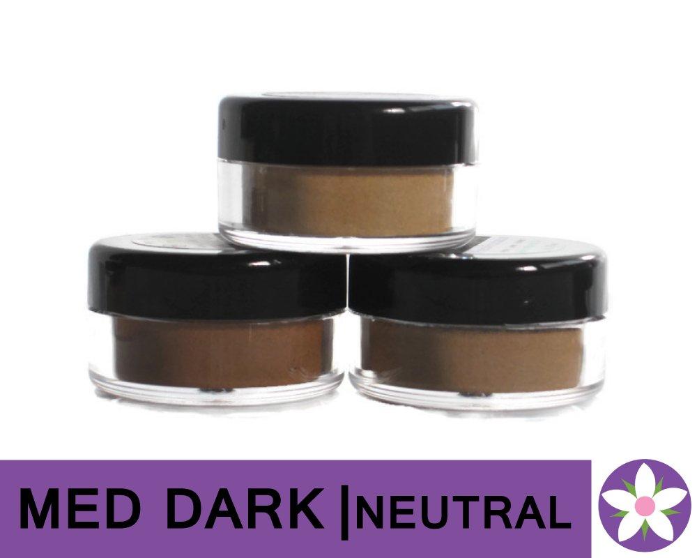 MEDIUM DARK Neutral Color Mineral Foundation Powder in Matte Finish