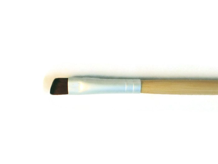 Eyeliner and Brow Vegan Makeup Brush Long Handle eco Friendly Bamboo