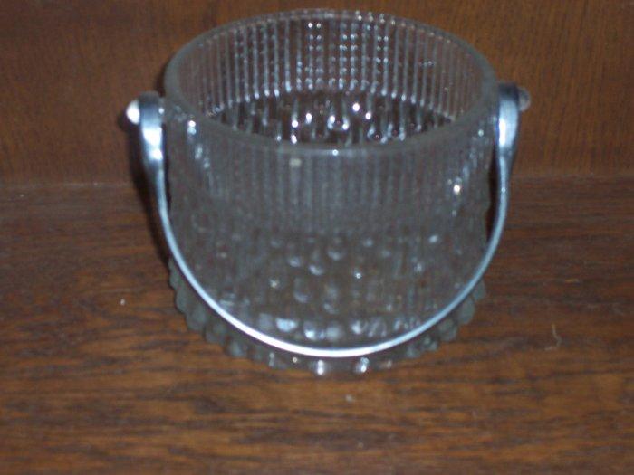 Clear Cut Glass Basket