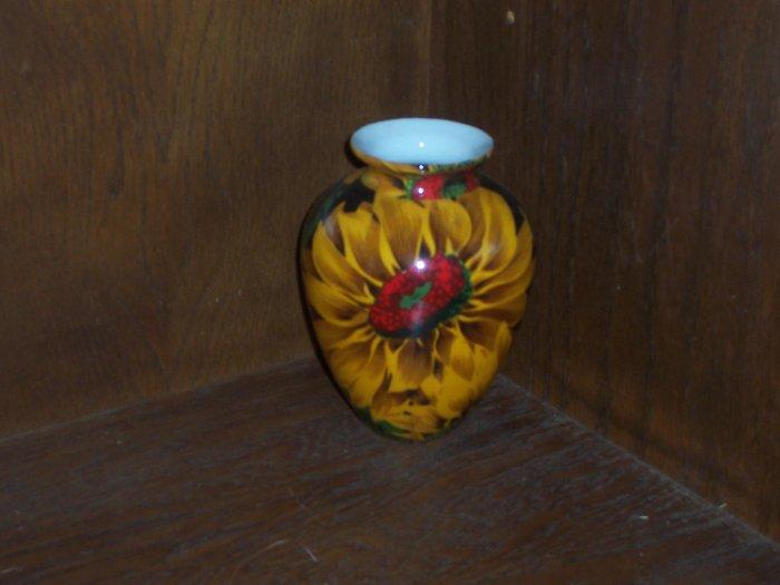 Vase with Sunflower Decor