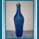Old Blue Glass Bottle with a Diamond Cut