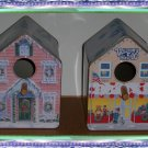Two Tin Birdhouses
