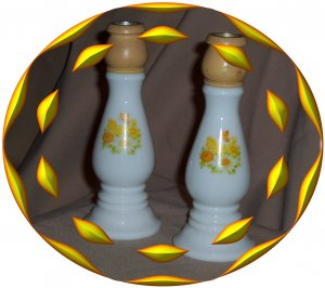 Two Avon Candle Holder Cologne Bottles