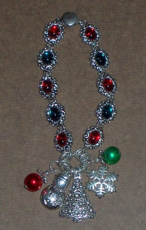 Christmas Bracelet Red and Green Jewelry