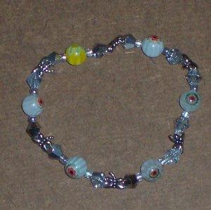 Handmade Millefiori Glass Bead Bracelet