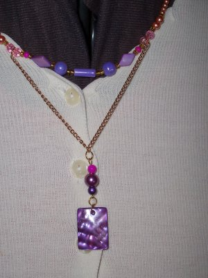 Color Purple Necklace