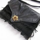 Vintage Marvelous Women's Black Leather Purse